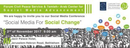 "Social Media Conference ""Social Media for Social Change"" 2nd November in Bethlehem"
