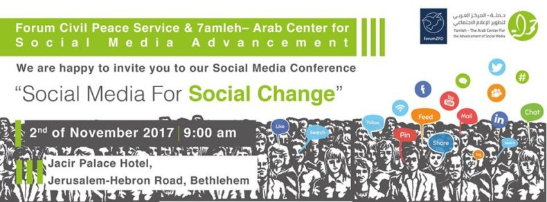 "Social Media Conference ""Social Media for Social Change"" 2nd November in Bethlehem"