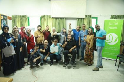 First round of graduates from 7amleh's digital Campaigning & marketing training course in Gaza